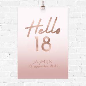 Verjaardag poster hello 18