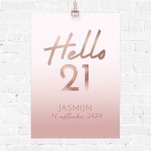 Verjaardag poster hello 21