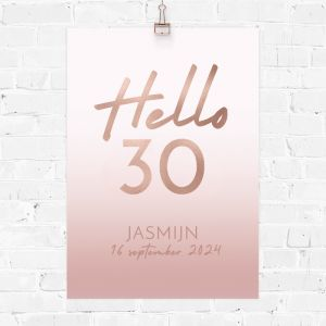 Verjaardag poster hello 30