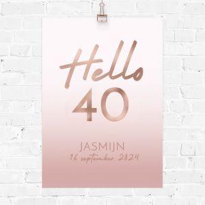 Verjaardag poster hello 40