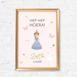 Verjaardag poster Magical Princess