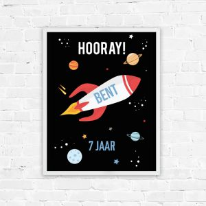 Verjaardag poster to the moon