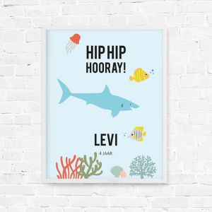 Verjaardag poster Under the Sea