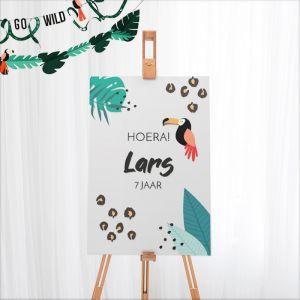 Welkomstbord verjaardag jungle