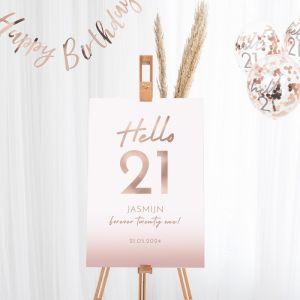 Welkomstbord verjaardag hello 21