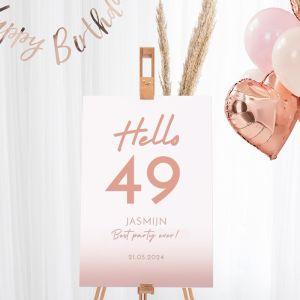 Welkomstbord verjaardag hello leeftijd