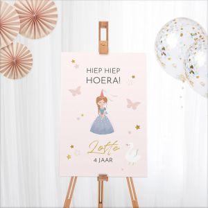 Welkomstbord verjaardag prinsessen