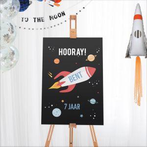 Welkomstbord verjaardag to the moon
