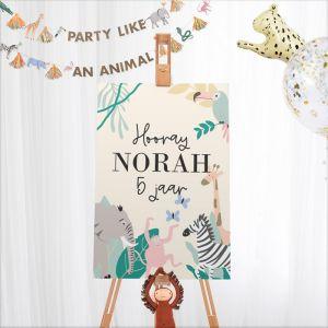 Welkomstbord verjaardag safari
