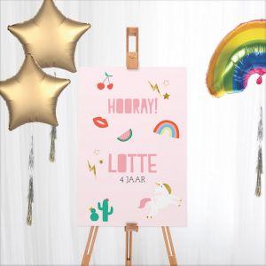 Welkomstbord verjaardag unicorn