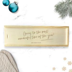 Wijnkist kerst gepersonaliseerd cheers