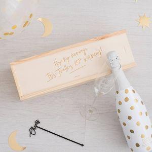 Wijnkist verjaardag gepersonaliseerd