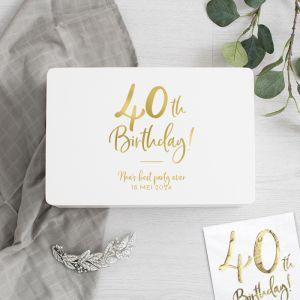 Memorybox wit birthday goud