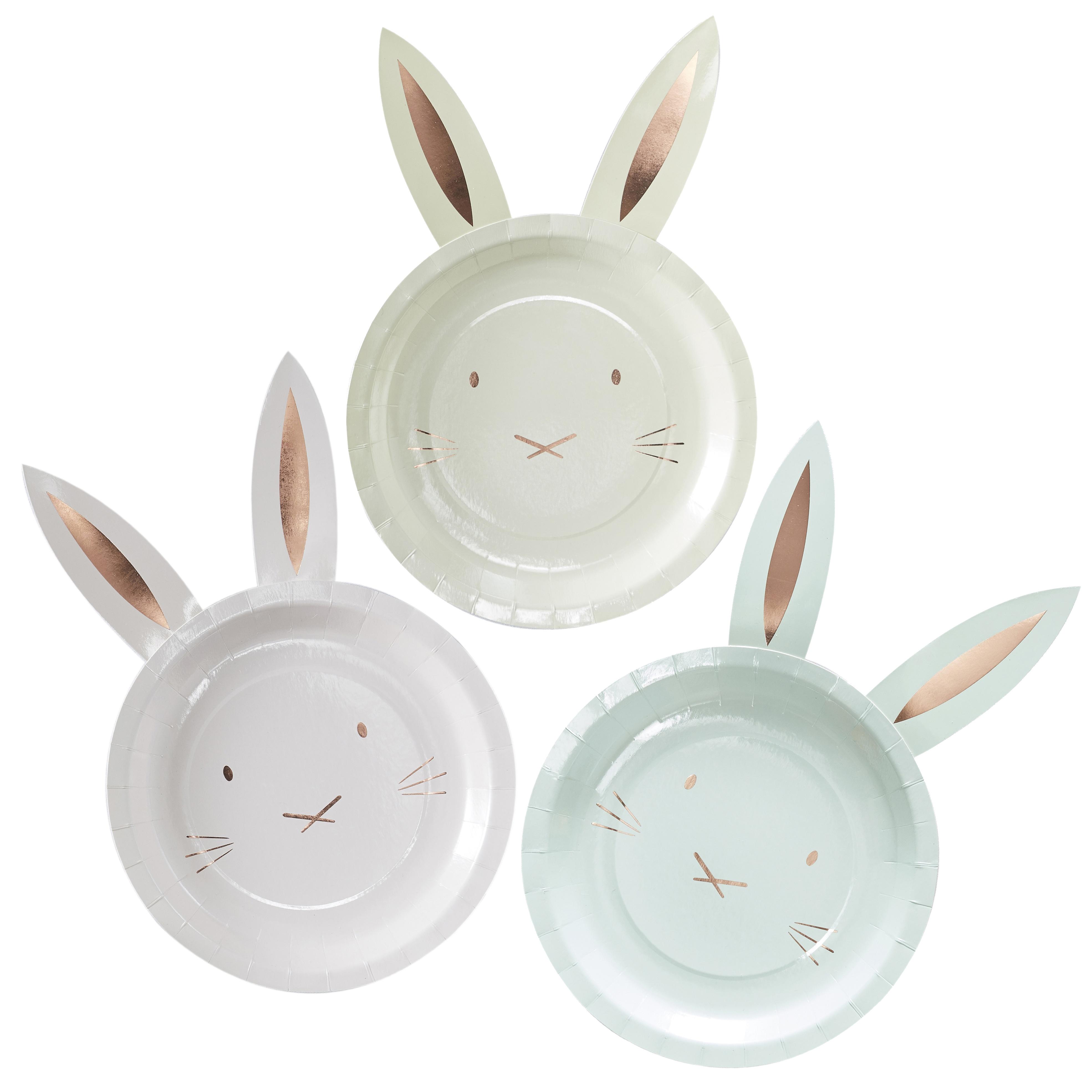 Bordjes konijnen roségoud
