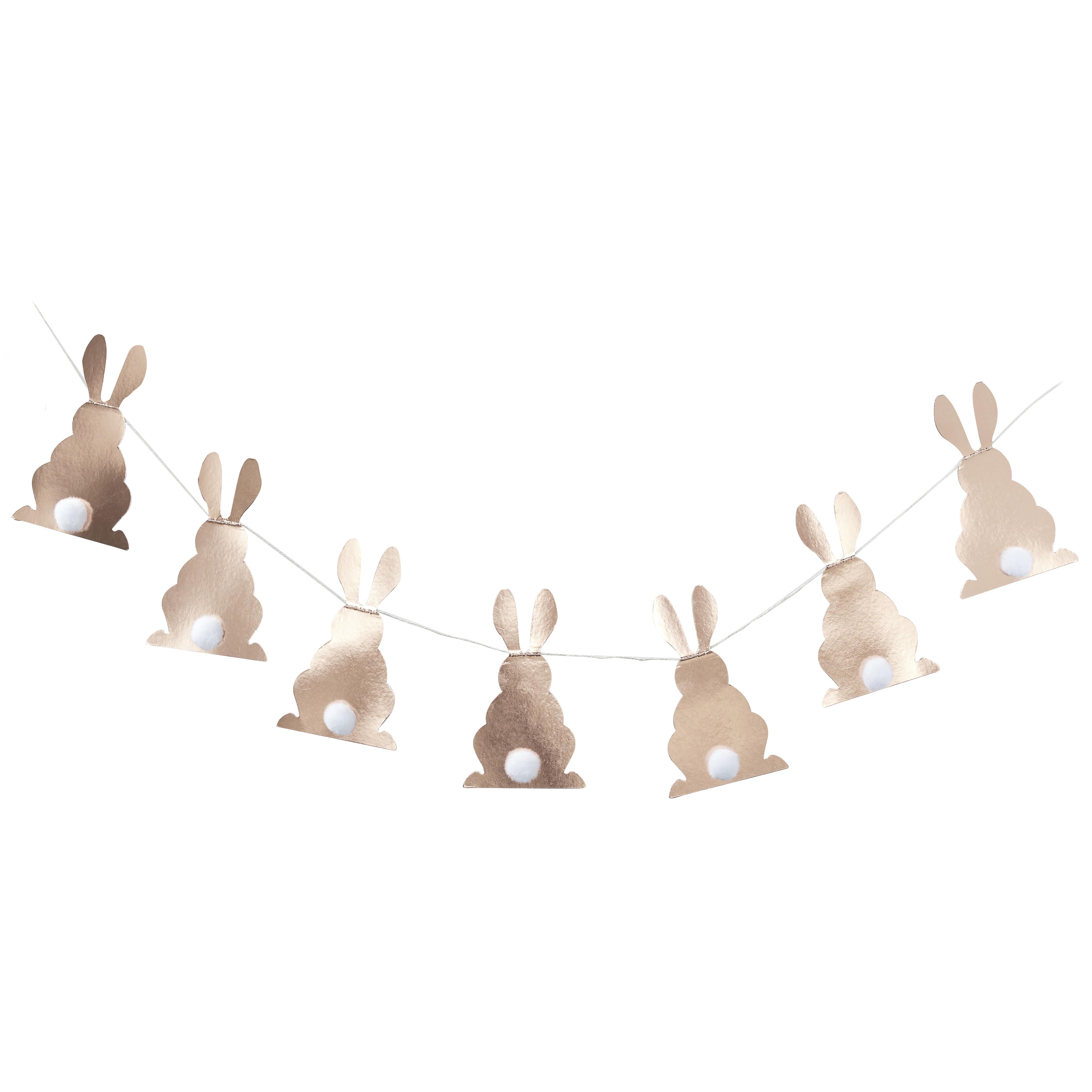 Slinger konijnen met pompoms