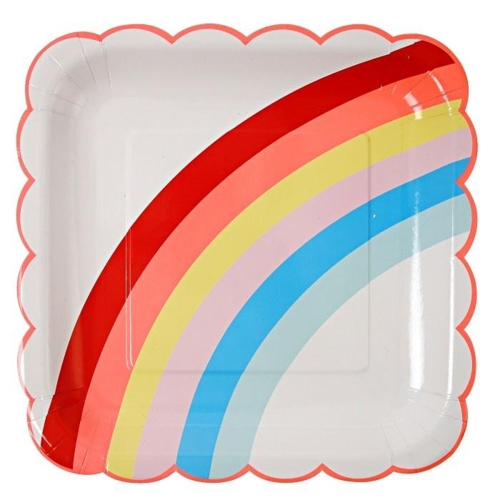Borden met regenboog