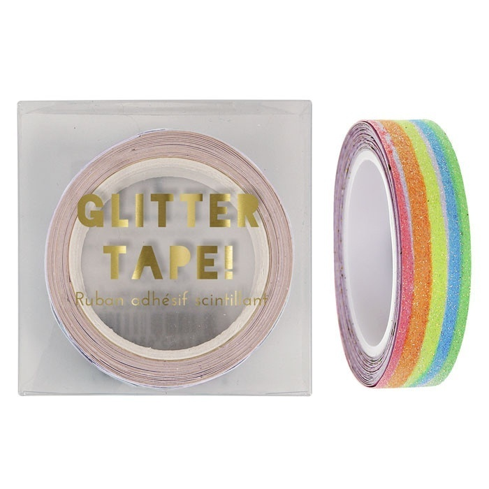 Glitter tape regenboog