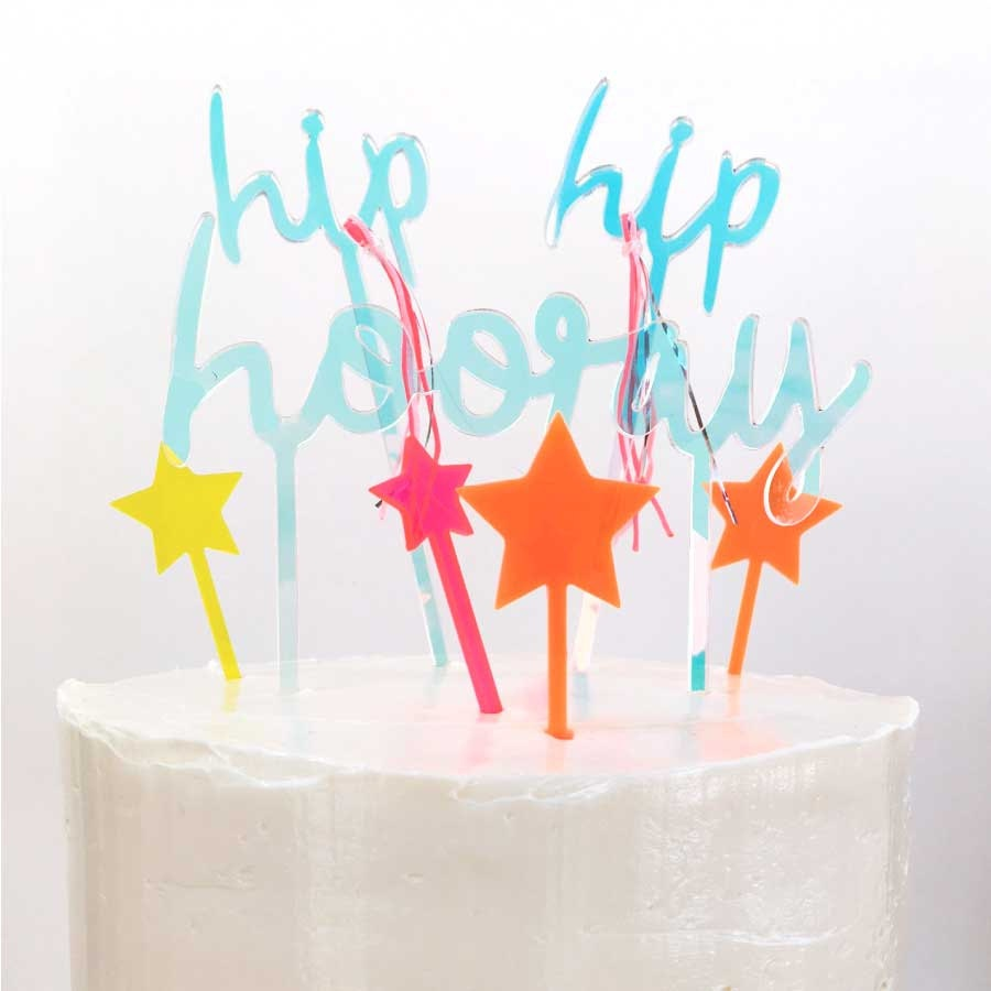 Hip Hip Hooray caketopper