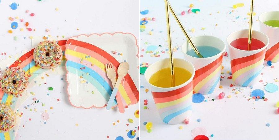 Een kleurrijk feestje met regenboog thema