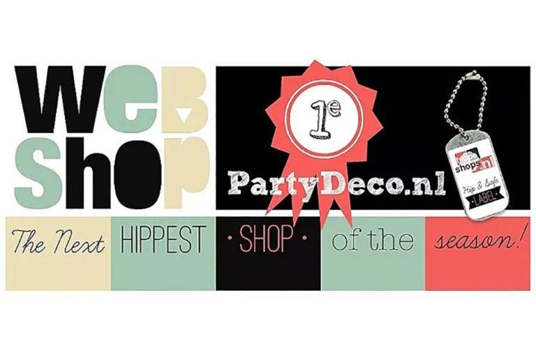 Partydeco.nl verkozen tot hipste webshop