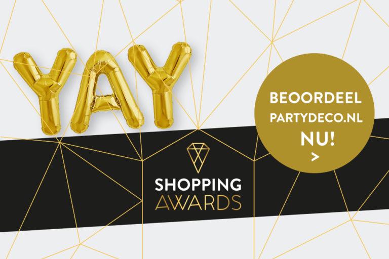 Partydeco.nl doet mee aan de Shopping Awards 2017