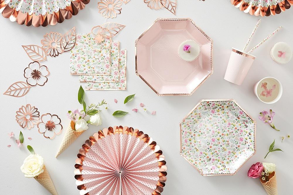 Trendkleur: decoratie voor een roségoud feestje