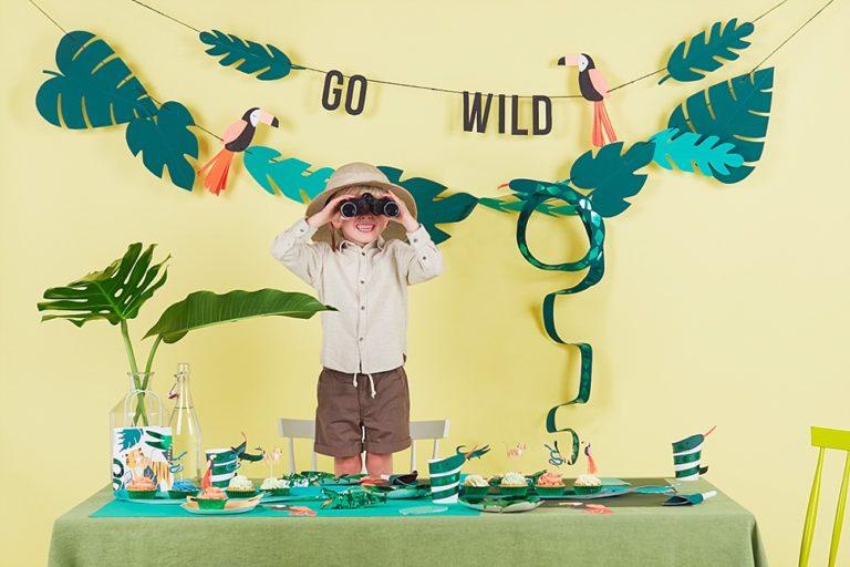 gedachten over outlet winkel verkoop uniek ontwerp Go wild thema: jungle kinderfeestje - Blog by Partydeco.nl ...