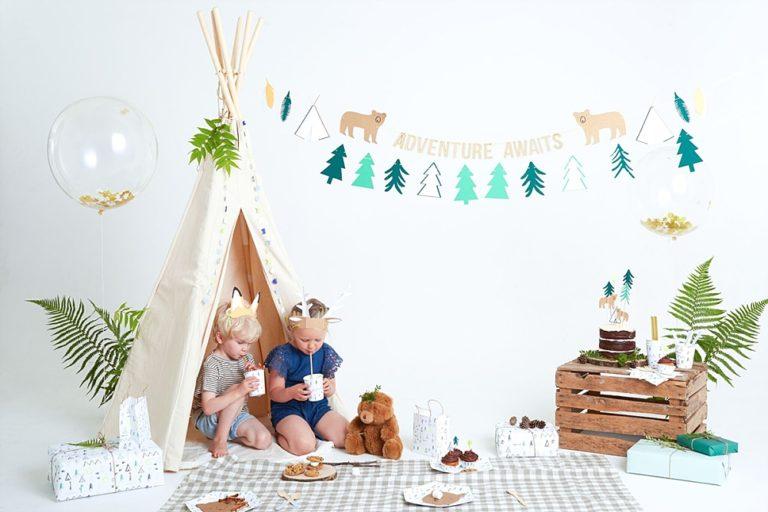 Beestelijk thema: into the woods kinderfeestje
