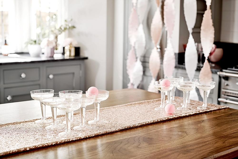 Prosecco Pong - Trendkleur: decoratie voor een roségoud feestje