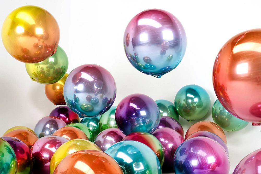 partydeco, orbz ombre folieballon