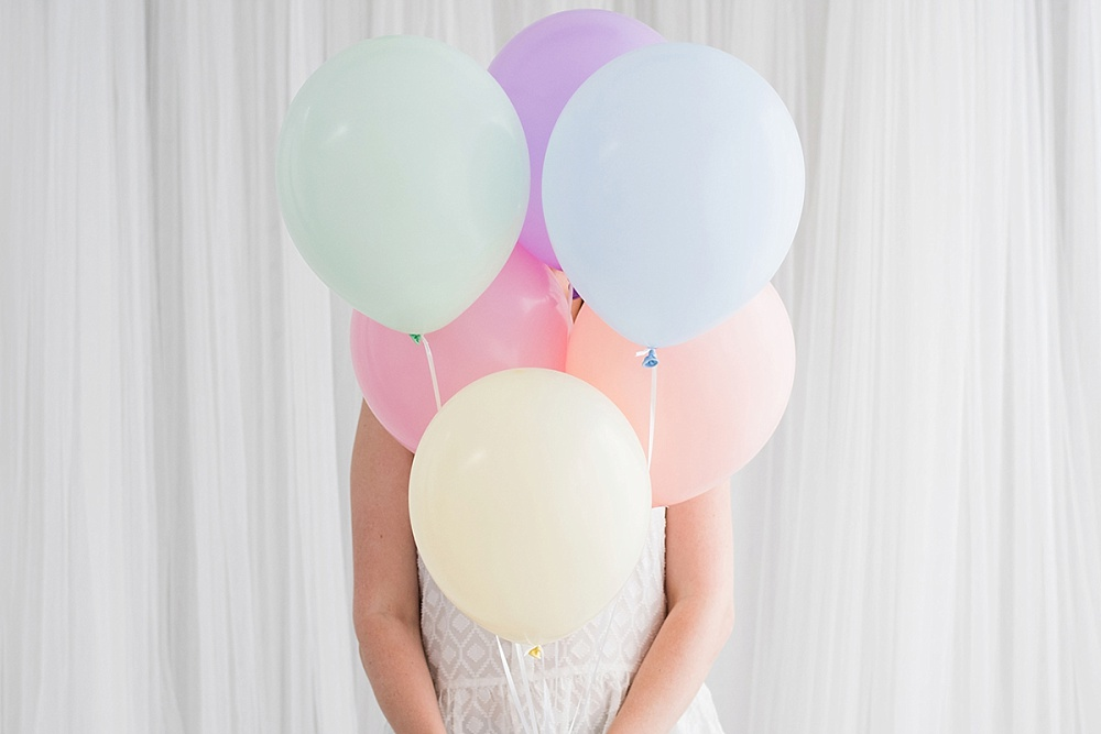 partydeco, pastel ballonnen