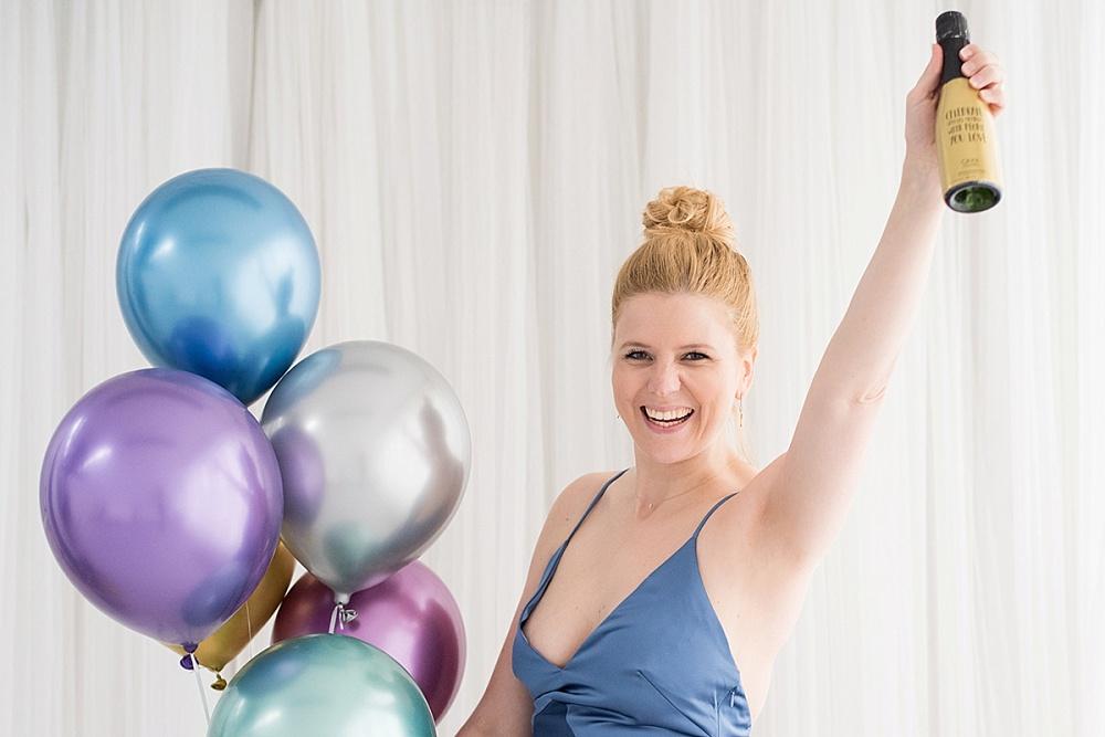 partydeco, chroom ballonnen