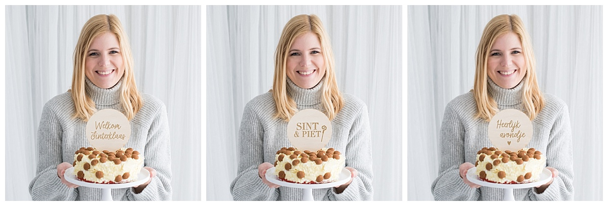 Houten Sinterklaas taarttoppers, Partydeco.nl