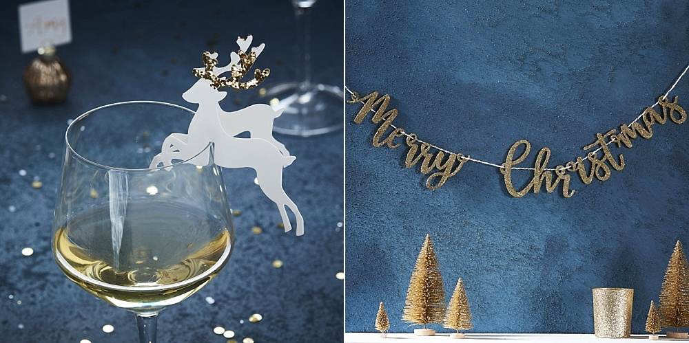Gold Christmas collectie, Partydeco.nl