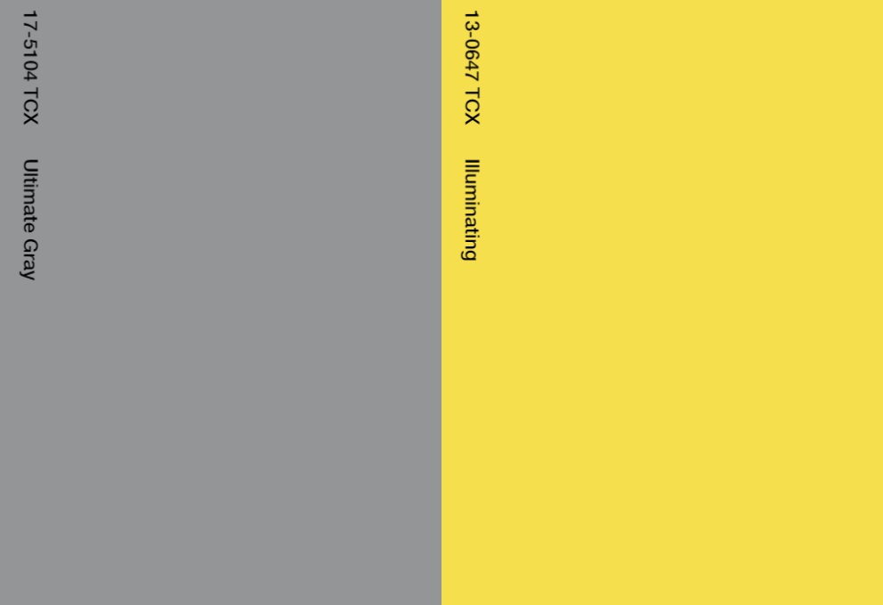 Ultimate Gray & Illuminating Yellow, partydeco.nl